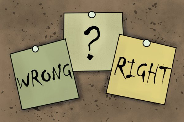 Image to show that there is no right or wrong answer when it comes down to choosing whether or not to buy a set of files