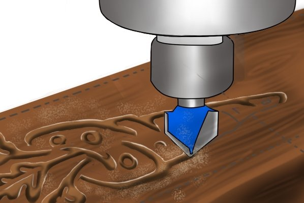 Image of a DIYer using their router to cut in 3D