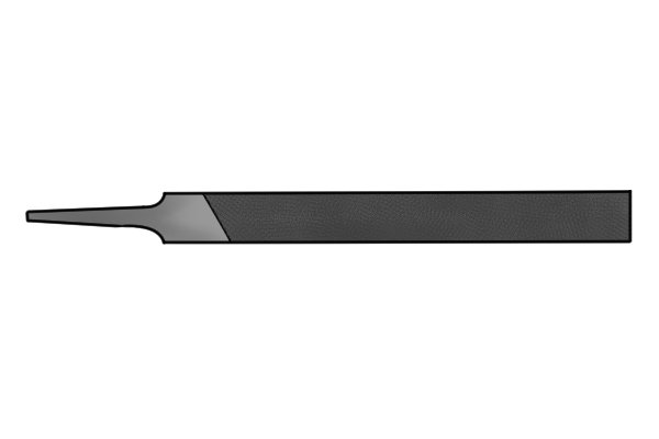 Image showing a veneer knife file's cut and profile