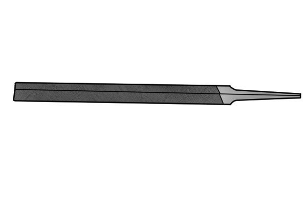 Image of a web saw file showing the outline and cut