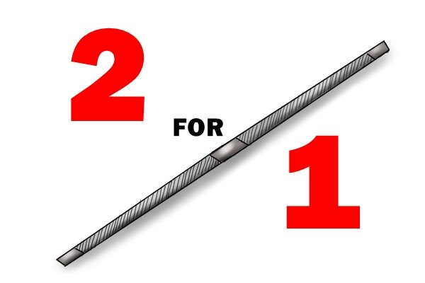 Image to show that a double ended saw file can count as having two taper saw files as it lasts twice as long