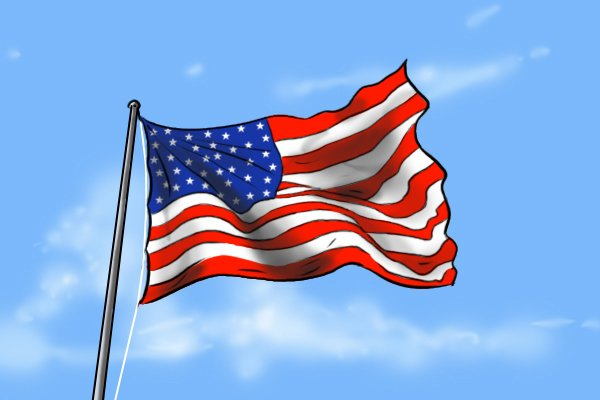 The American flag, representing American pattern files