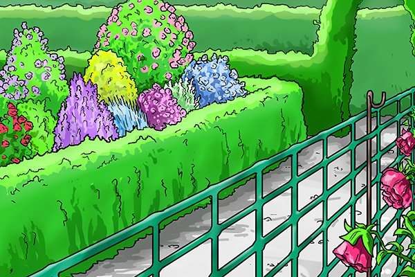 Garden fencing mesh