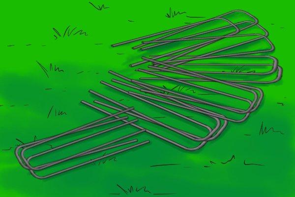 U pin fence anchors