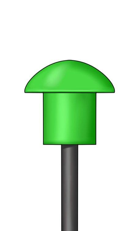 Mushroom cap on rebar