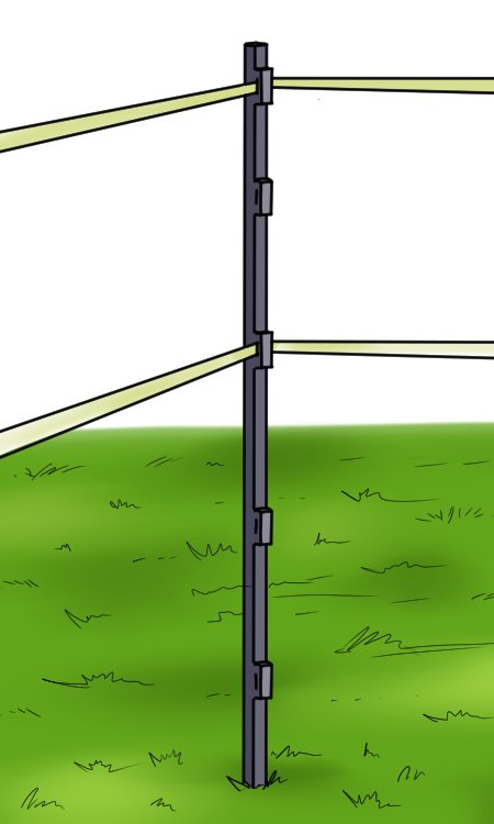 Fencing stake with electric fence
