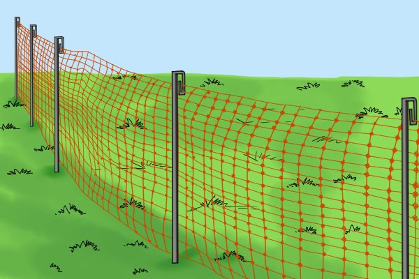 Plastic fencing stakes