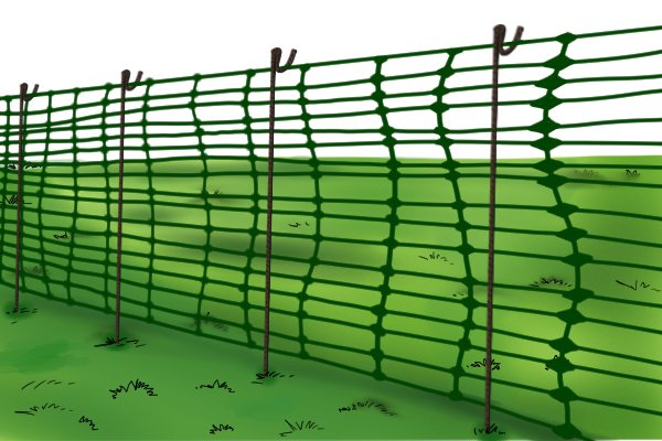 Fencing pin and fence