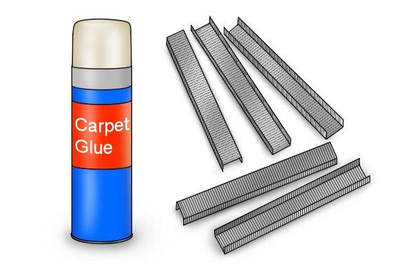 carpet glue and staples