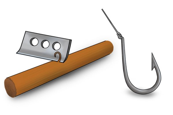 Replaceable hooked scraper blade
