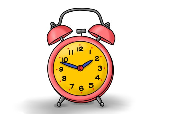 Alarm clock to show time saved