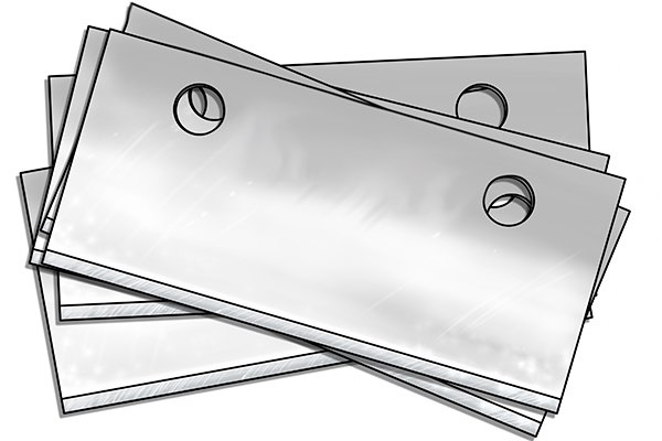 Replaceable scraper blades