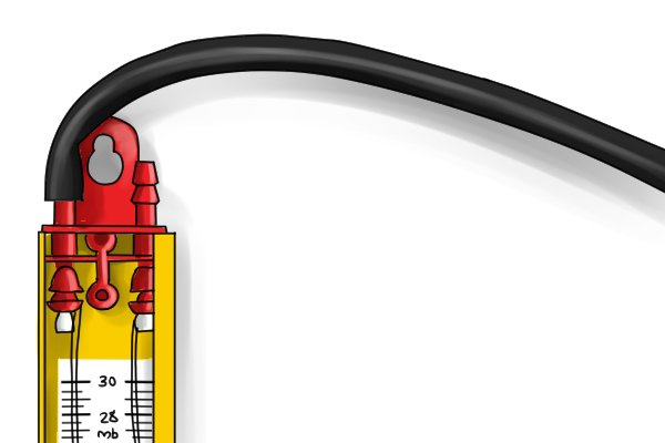 A hose is used to connect the gas test gauge to the gas appliance being tested. For measuring the pressure of natural gas, an ordinary rubber hose is used. However, to measure the pressure of Liquefied Petroleum Gas (LPG), a nitrile hose is required. Not all manufacturers supply a hose with their gas test gauges; you may have to buy a hose separately.