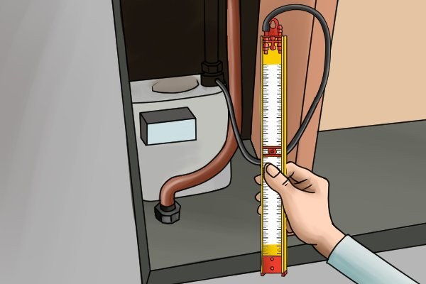 how to use a gas test gauge to check the pressure of appliances. Black Bedroom Furniture Sets. Home Design Ideas