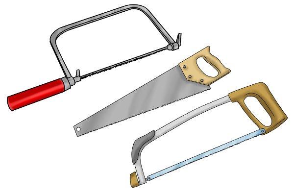 Three types of saw
