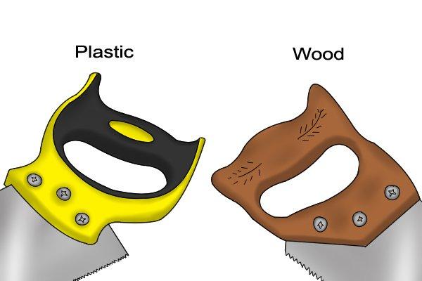 Wooden saw handle vs plastic saw handle