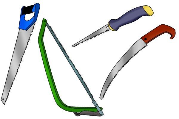 Bow saw, drywall saw, masonry saw, pruning saw