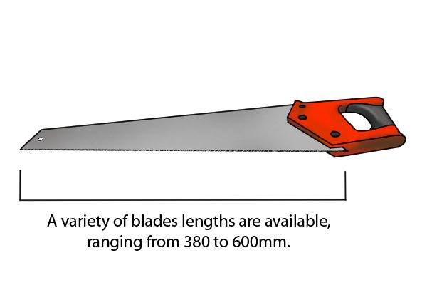 A variety of blades lengths are available, ranging from 380 to 600mm.