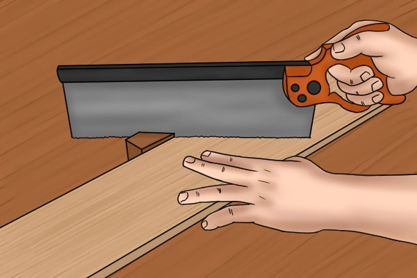 You can place your other hand on the wood to steady it