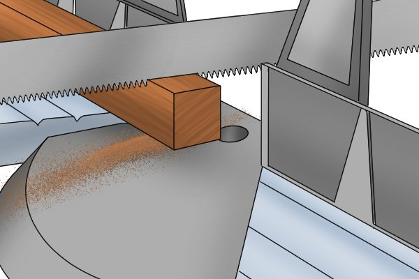Begin by lightly pushing the saw across the surface of the material, applying very little downward pressure in a smooth, slow stroke.