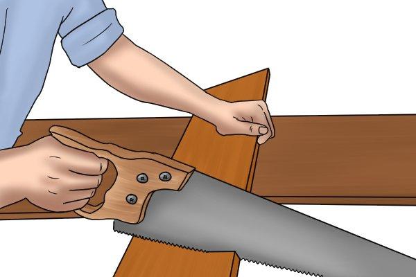 General saw cutting wood