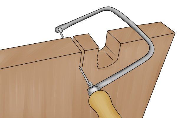 A coping saw is capable of creating a very neat finish because the teeth are relatively small in size