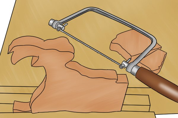 Compared to a coping saw, a fret saw is used for even more precise cutting, involving tighter curves and more delicate shapes.