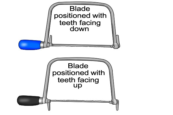 Some models of coping saw allow you to rotate the blade to any angle, to make certain cuts easier.