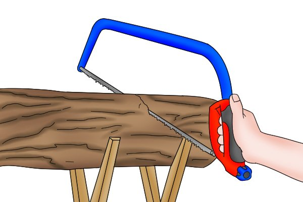 Most modern bow saws will cut on the push and pull stroke, so you can apply pressure on either stroke in
