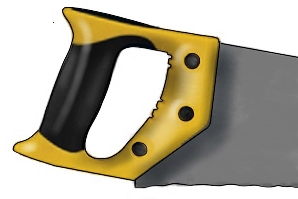 An insulation saw has what's known as a 'closed pistol grip handle'.