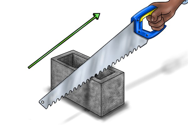 Sawing masonry requires quite a lot of effort, which is why we advise you to use a power saw if you're planning on cutting a large quantity on a regular basis.