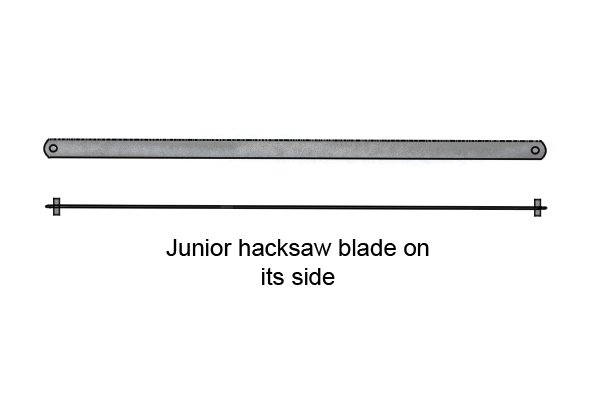 How to change a junior hacksaw blade how is a junior hacksaw blade attached greentooth Image collections