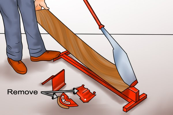 Cutting Laminate Flooring cutting laminate flooring planks Remove Board And Lock For Length Cuts