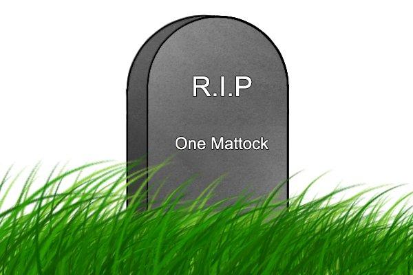 Mattock gravestone, RIP one mattock