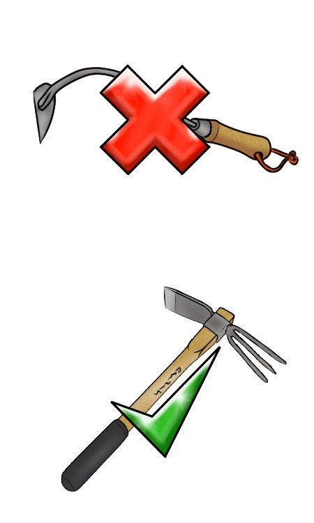 Why choose a micro mattock instead of a hand hoe