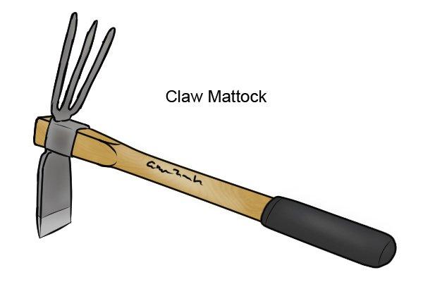 Claw mattock