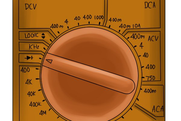 Multimeter Dial Symbols : How to test diodes and transistors with a multimeter
