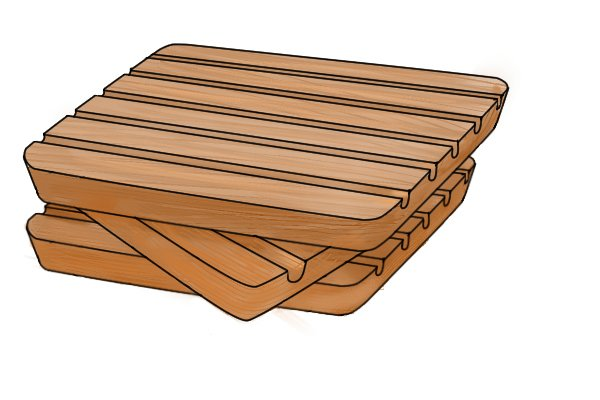 Stack of wood, can be easily marked by a marking gauge as well as sheet metal