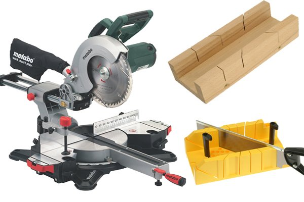 When using mitre shears you don't need to use a mitre saw or a mitre box