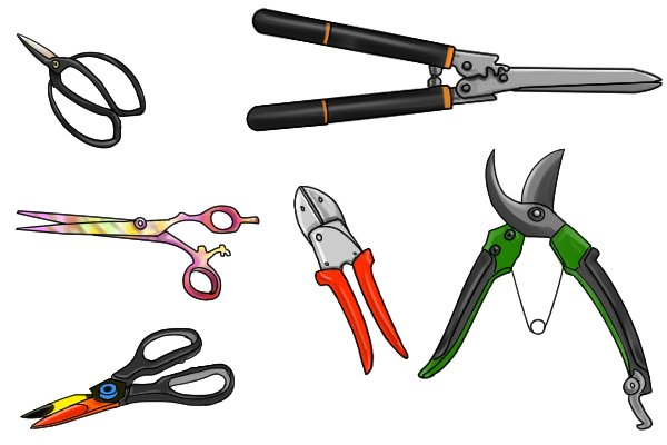 you can get many specialist shears and scissor such as pinking shears, mitre shears, animal shears and many more. wonkee donkee tools