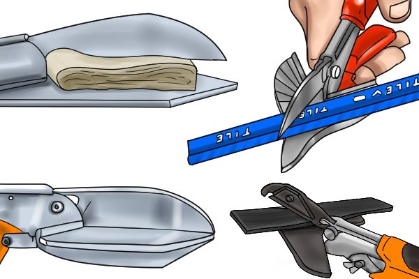 Mitre shears can cut materials at various angles, just line the material up with one of the marks to get the angle you require