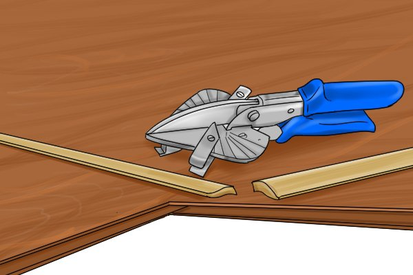 Mitre shears are often used to cut material at an angle so a corner can be created