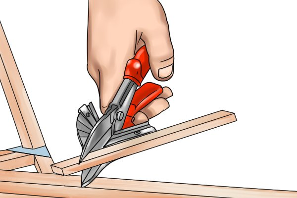 Mitre shears and mitre cutters allow you to cut stock at precise angles