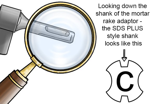 Here, the shank on the adaptor is different.