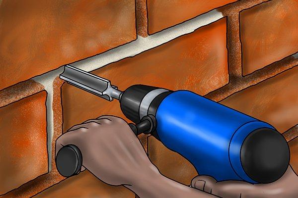 depth of mortar rake removal
