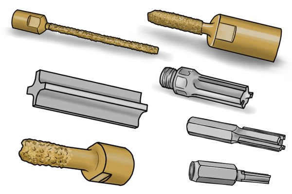 There are many different designs of mortar rake.