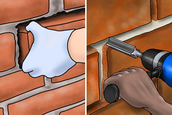 The depth you need to remove mortar will vary depending on whether you are removing an individual brick or an area of mortar.