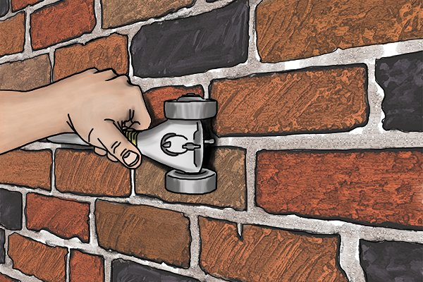 When working on traditional or listed buildings it is recommended you remove the mortar with hand operated tools.