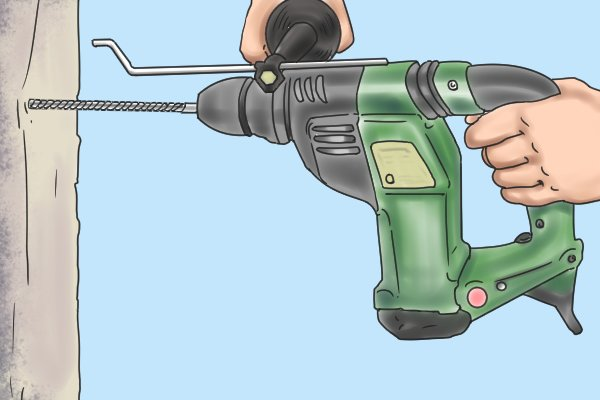However, you may find it useful to purchase a gauge bar. You can set a gauge bar to the maximum distance you wish to rake to. The tool sticks out further from the drill chuck so as to prevent you raking too deep. A gauge bar acts like a sole plate attachment in that it hits the wall preventing you rake further.