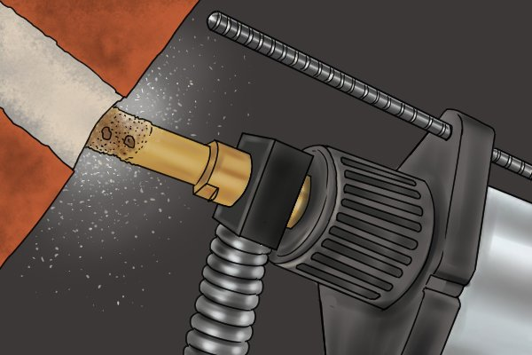 As with a power drill an SDS Plus Drill can be used with a gauge bar to indicate the maximum depth you can rake.